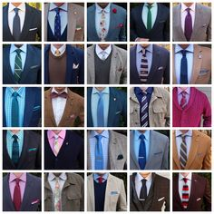 Saturday night recap. Here's the last 20 or so combos I've worn. As you can see I wear all kinds of colors and styles. Versatility is key! Which look is your favorite? #runnineverlong #qpcollections #grandfrank #sprezzabox #tiesdotcom #cufflinksdotcom #harrisonblake #wearlapelpins #knottery #sgents #paulfredrick #frankandbuck #otaa #menofotaa #morninggrind #blumenfashion #veryperry #perryellis