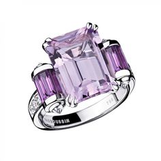 MAUBOUSSIN - Bague Couleur Baiser Rose de France et Diamants - Or Blanc 18k | Passage44