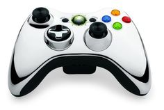 Special edition Chrome Xbox360 controller.