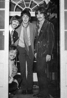 Richard Starkey, Paul McCartney, George Harrison, and John Lennon (Mindgardens67)