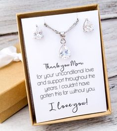 Mother of the Bride Jewelry Set - Wedding Ideas - Bridal Party Gifts