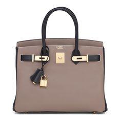 4989b8b06c0  Hermes  Birkin  Bag HSS Etoupe Black Swift Gold Hardware Hermes Taschen