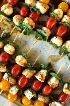 vegetarische Fingerfood Rezepte Mozzarella Tomaten