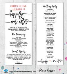 DIY Rustic Wedding Program Template by 1CreativeMastermind on Etsy