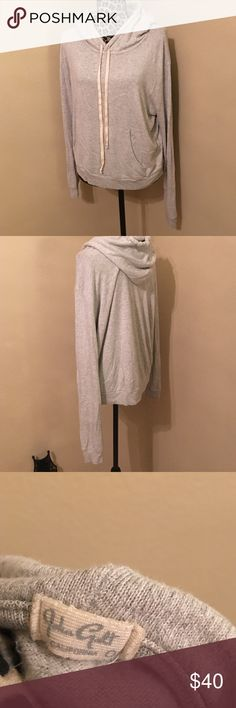 Brandi Melville/John Galt cashmere-like hoodie Made in Italy. Extremely soft cotton-viscose-elastin blend. One-size fits most. Like-new condition. Brandy Melville Tops Sweatshirts & Hoodies