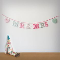 Handmade 'MR & MRS' Fabric Garland by Loveprettygarlands on Etsy, $36.00