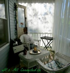 It's All Connected: Outdoor Curtains Tutorial Privacy Curtains, Outdoor Curtains, Sheer Curtains, Outdoor Spaces, Outdoor Living, Outdoor Decor, Curtain Tutorial, Curtain Call, Decks And Porches