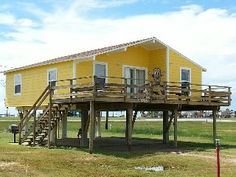 A cute Beach House a short walk from the beach near GalvestonVacation Rental in San Luis Pass from Family Vacations In Texas, Galveston, Home And Away, Ideal Home, Gazebo, Beach House, Condo, Outdoor Structures, San