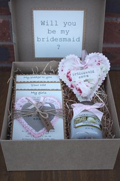 Will you be my bridesmaid gift hamper boxes by DanniHumber
