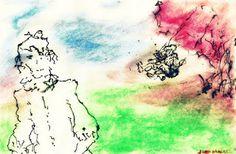 Lembrança (memory)  watercolor pencil