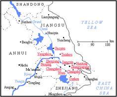 cool Jiangsu Map