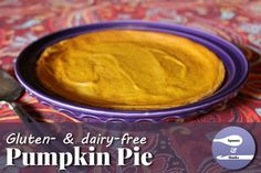 This gluten- and dairy-free pumpkin pie needs no separate crust, because it makes its own.
