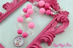 Lalaloopsy Jewel Sparkles Chunky Bubblegum Necklace by RexiRaesToo,