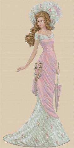 Beaded Cross Stitch, Cross Stitch Art, Cross Stitching, Cross Stitch Patterns, Anchor Threads, Geisha Art, Cross Stitch Collection, Cross Stitch Pictures, Victorian Women