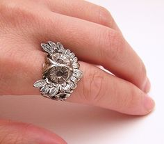 Steampunk OWL RING