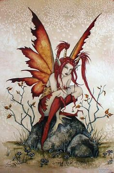 Amy Brown has a fairy art line, she is my favorite.