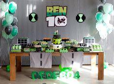 Galeria • Caraminholando                                                                                                                                                                                 Más Ben 10 Birthday, Dragon Birthday Parties, Hot Wheels Birthday, Little Man Birthday, Birthday Ideas, Ben 10 Cake, Ben 10 Party, Alien Party, Baptism Party