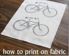 How to Print on Fabric - The Graphics Fairy Une façon d'imprimer sur tissus Fabric Painting, Fabric Art, Fabric Crafts, Sewing Crafts, Diy Print On Fabric, Lace Fabric, Cotton Fabric, Diy Projects To Try, Craft Projects