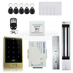 112.50$  Buy here - http://alih4o.worldwells.pw/go.php?t=32606551669 - DIYSECUR Magnetic Lock 8000User 125KHz RFID Touch Reader Password Keypad Door Access Control Security System Kit C20