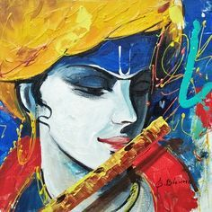 Lord krishna paintings for sale, krishna paintings on canvas, Lord krishna oil paintings, krishna art paintings on line at anyahhart. Radha Krishna Pictures, Lord Krishna Images, Krishna Painting, Krishna Art, Radhe Krishna, Indian Art Paintings, Modern Art Paintings, Love Painting, Painting & Drawing