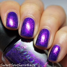 Sweet Southern Haze: Colors By Llarowe Spring Frenzy 2014: The Shimmers and a Comparison Connie, You Saucy Minx!