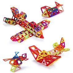 Hot Mini 196pcs/lot Magnetic Building Blocks Toys Construction Model DIY 3D Magnetic Designer Educational Brick New Year Gift