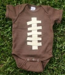 Football onesie...john will like this