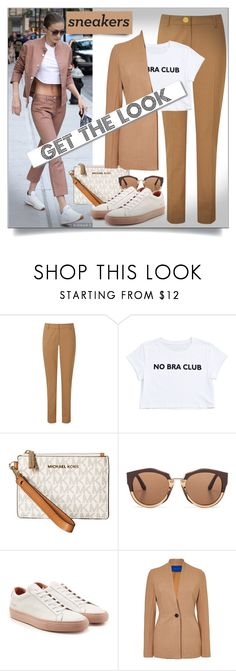 """GET the LOOK"" by shoaleh-nia ❤ liked on Polyvore featuring Pure Collection, MICHAEL Michael Kors, Marni, Common Projects, Winser London and White Label"