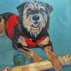 #ontheeaseltoday Sergey #blackrussianterriers #dogportrait #barkingdogcreationsstudio