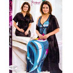 Fashionable Two Part Nighty-10057 Night Dress Online, Salwar Kameez, Kaftan, Nightwear, Sari, Womens Fashion, How To Wear, Dresses, Gowns
