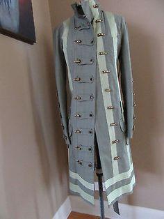 NWT L.A.M.B. Green Military Style Long Jacket by Gwen Stefani Size 4  | eBay