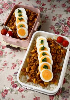 Bento with Boiled Eggs