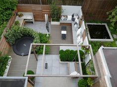✔ 63 contemporary garden design alteration and refurbishment with modern planting scheme 24 Contemporary Garden Design, Small Garden Design, Landscape Design, Garden Seating, Terrace Garden, Garden Swing Seat, Backyard Patio, Backyard Landscaping, Modern Planting