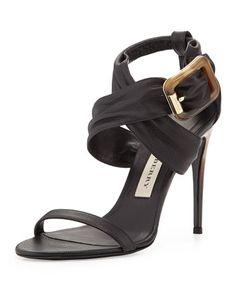 81d6053be1f Burberry Leather Crisscross Sandal
