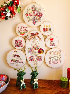 Embroidery Hoop Christmas Tree