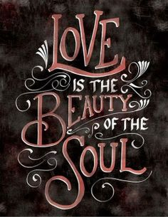 Love is the beauty of the soul | Inspirational Quotes