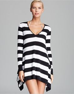 Tommy Bahama High Low Beach Cover Up Sweater Women - Swimsuits & Cover-Ups - Bloomingdale's Swimsuit Cover Up Dress, Beach Sweater, Designer Swimwear, Beach Covers, Cotton Sweater, Tommy Bahama, Women Swimsuits, Designing Women, Sweaters For Women