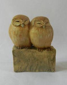 """Saatchi Art Artist Hilary Audus; Sculpture, """"Little Owls"""" #art"""