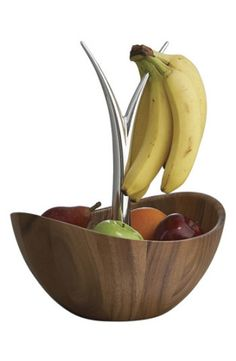 "Polished branches sprout from the center of an acacia bowl designed to efficiently hold all sorts of fruit. 				Designed by Wei Young.Approx. height: 16"".Acacia wood/metal alloy.Hand wash.By Nambé; imported."
