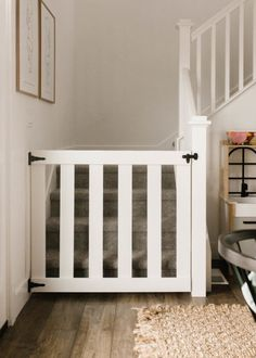 Wooden Stair Gate, Wood Baby Gate, Wooden Dog Gates, Barn Door Baby Gate, Diy Baby Gate, Doggie Gates, Dog Gates For Stairs, Toddler Gate For Stairs, Custom Baby Gates