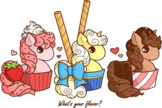 Cupcake Ponies: What's your flavor? by YamPuff on deviantART