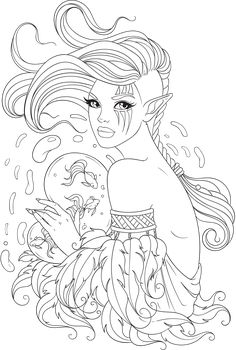 Free Adult Coloring Pages Printable PDF for Stress Relief - Line Artsy - Free Adult Coloring Pages People Coloring Pages, Fairy Coloring Pages, Printable Adult Coloring Pages, Mandala Coloring Pages, Coloring Books, Coloring Pages For Adults, Adult Colouring Pages, Free Coloring Sheets, Kids Coloring