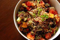 [Pineapple], Black Bean and Quinoa Salad via the taste space