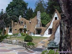Storybook house, Olalla, Washington    An homage to Hansel and Gretel, the Storybook house was built in the 1980s by Richey & Karen Morgan. A stone bridge, a tree house and five fireplaces complete the house, which was up for sale as recently as March of this year for the asking price of $359,000.