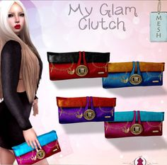 Glam Clutch Fatpack The glam clutch fatpack is a free group gift from Luas. The gift contains the clutch in blue, punk, purple and red color. You ..
