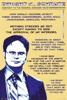 LOVE Dwight from the US office!