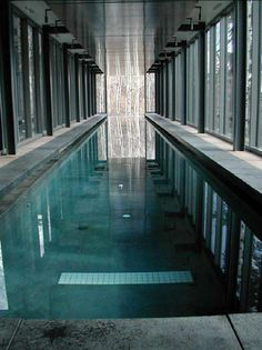 Clear-Walled Infinity Pools - Designed by architects Bohlin Cywinski Jackson in collaboration with Water Design Inc, the Cantilevered Lap Pool is a magnificent example of indoor...