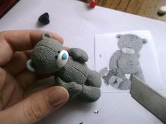 How to make a Tatty teddy bear in polymer clay - Russian tutorial
