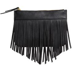 H&M Small fringed clutch bag (650 RUB) ❤ liked on Polyvore