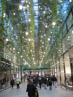 Funf Hofe, Munich Germany, Hanging Plants by HERZOG & DE MEURON